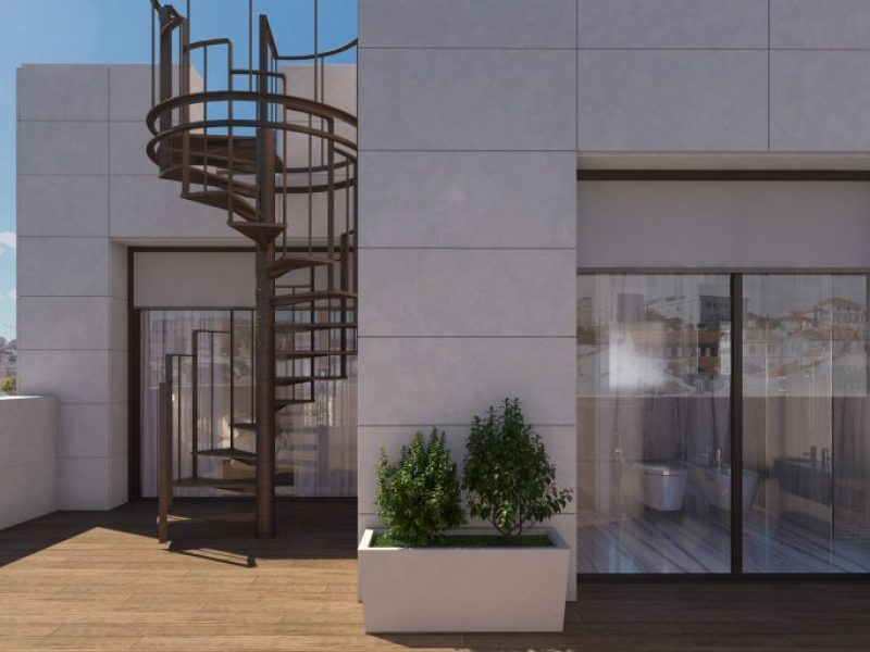 Render do Terraço do Duplex